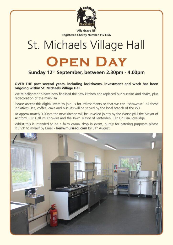 Village Hall Open Day @ St Michaels Village Hall